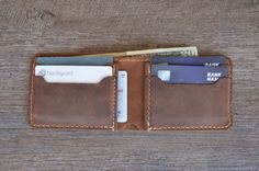 This listing is for one PERSONALIZED leather wallet. This handmade leather minimalist wallet is the wallet youve been looking for!!!  Ultra rustic design, minimalist but complete, without making you fold your money or leaving any of the necessary cards at home.  Buy your favorite person