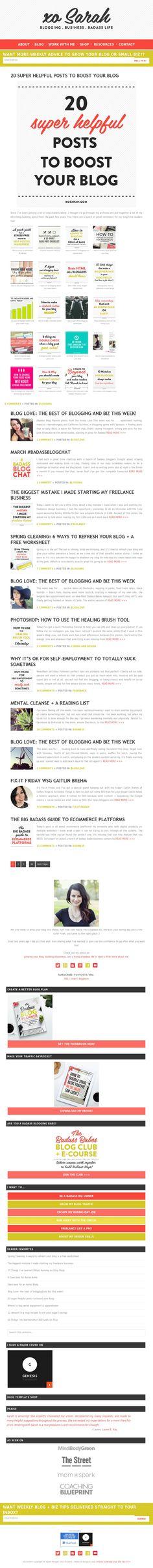 The website 'http://xosarah.com/' courtesy of @Pinstamatic (http://pinstamatic.com)