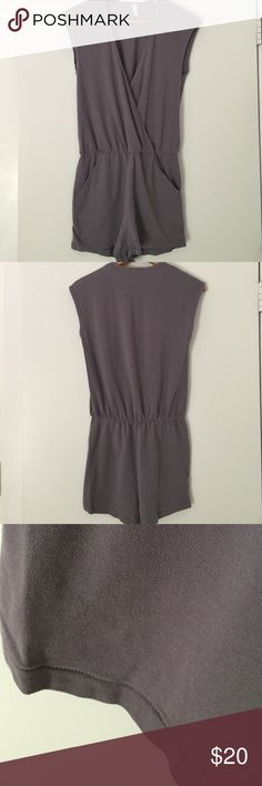 American Apparel Romper NWOT. Muted lavender gray cotton. American Apparel Pants Jumpsuits & Rompers