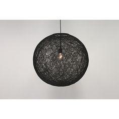 Hanglamp zwart bol touw ROPE I | middel Ø 45 cm