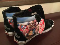 9a10dc3010 Details about Iron Maiden Vans SK8 Killers High Tops Skate SIZE 12 Slayer  Metallica Ozzy RARE