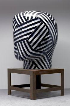 Ceramic Head by Jun Kaneko