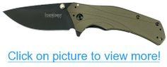 Kershaw 1870OLBLK Knockout Folding Knife with SpeedSafe, Olive/Black