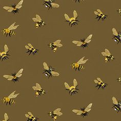 100/% Cotton Fabric Bee a Keeper Collection Studio E Quilting Weight Craft Honey