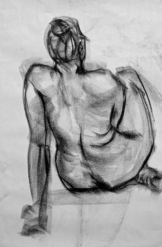 Figure Drawing by Ellie Peters, via Behance