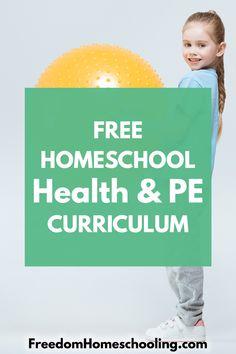 Freedom Homeschooling | Free Homeschool Health & PE Physical Education Curriculum, Free Homeschool Curriculum, Health And Physical Education, Homeschool Kindergarten, Homeschooling Resources, Preschool, Star Citizen, High School Health, Elementary Pe