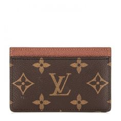 LOUIS VUITTON Monogram Card Holder Armagnac ❤ liked on Polyvore featuring bags, wallets, louis vuitton, louis vuitton bags, brown bag, monogrammed bags and card carrier wallet