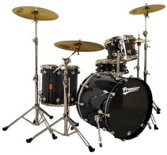 Premier Drums Genista Series 4289976BLX 4PC Maple Modern Legend 20 Shell Pack Drum Set Black Sparkle Laquer ** You can get additional details at the image link.Note:It is affiliate link to Amazon.