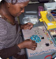 @WorldCrafts artisan: {African Hope Crafts ~ South Africa} Even though 25 percent of South Africa's population suffers from AIDS, the people of Cape Town will not let the disease destroy their hopes and dreams. In fact, a Christian job creation program, African Hope Crafts, specifically reaches out to men and women who are HIV positive and unable to find work. While they create jewelry, purses, scarves, & other items they learn proper health practices & receive encouragement from each other.