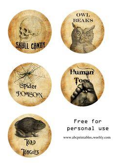 halloween free labels - Buscar con Google