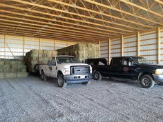 The first loads of hay arrive into our NEW HAY BARN!