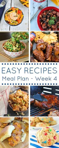 Easy Recipes Meal Plan - 7 perfect dinners!