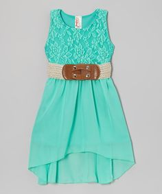Mint Chiffon Dress by Just Kids (also in coral) $19.99 #kids #girls