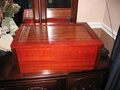 Bloodwood and bubinga box