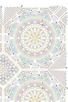 Can make colourful motifs - Salvabrani The Ultimate Granny Square Diagrams Collection ⋆ Crochet Kingdom Motif Mandala Crochet, Crochet Square Patterns, Crochet Circles, Crochet Motifs, Crochet Blocks, Crochet Diagram, Crochet Stitches Patterns, Crochet Chart, Crochet Squares