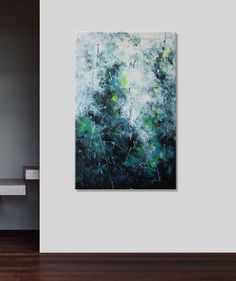 abstract seascape painting enormous huge by ElenasArtStudio, $369.00