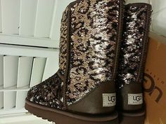 Leopard sequin UGG boots<3 Wantttttttttttttttt! <3