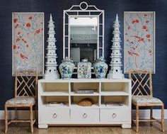 Chinoiserie Chic: Chinoiserie Vignette & Pagodas