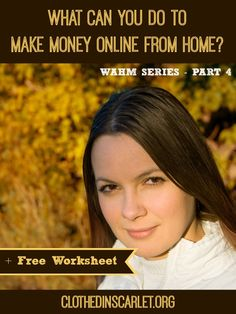 Do you wonder what you can do to make money online, by working from home? Here are some ways you can find out what you are good at doing.... And a FREE Self Analysis Worksheet!