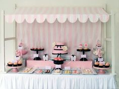 dessert table awning