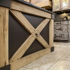 Kitchen Remodel, House, Bathroom Doors, Chalets, Kitchens, Home Ideas, Rustic Chic Kitchen, Rustic Kitchen Cabinets, Home