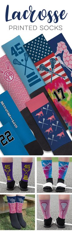 Our printed lacrosse socks make a great gift for an individual player or the whole team!