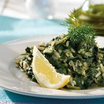 Amateur Cook Professional Eater - Greek recipes cooked again and again: Spanakoryzo - Braised spinach and rice in lemon sauce Greek Recipes, Rice Recipes, Vegetable Recipes, Cooking Recipes, Healthy Recipes, Vegetable Sides, Healthy Meals, Veg Dishes, Gastronomia