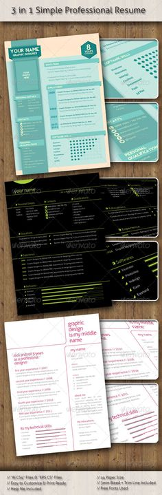 Buy Stylish Professional Resume design) by deshane on GraphicRiver. 3 Design Stylish Professional Resume make a good impression with creative resume for creative people customize with y. Indesign Templates, Print Templates, Cover Letter For Resume, Cover Letters, Cv Inspiration, Marketing Words, Creative Resume, Resume Design, Professional Resume