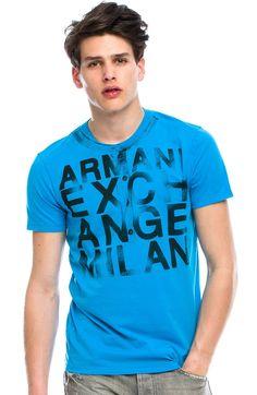 Faux Henley Logo T-Shirt - Tee Shirts - Mens - Armani Exchange Mens Tee Shirts, T Shirt, Your Style, Man Style, Mens Fashion, Tees, Mens Tops, Clothes, Shopping