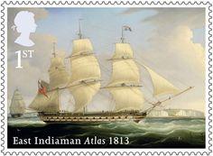 Merchant Navy stamp – 1st Class – Atlas, 1813.