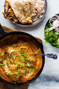 Want Indian curry in a hurry? Try this restaurant style butter chicken masala (murgh makhani) recipe which is super easy and takes under an hour! It's authentic, no fuss and can also be made in the crockpot! Unlike other butter chicken recipes, not loaded with butter and cream.