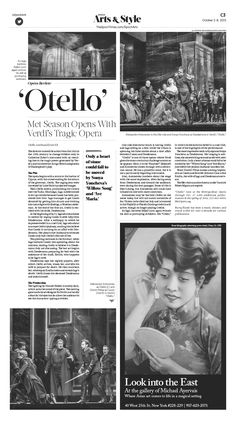 Met Season Starts With Verdi's Tragic Opera 'Otello'|Epoch Times #Opera #Arts #newspaper #editorialdesign