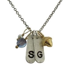 Hammered Initials - IsabelleGraceJewelry