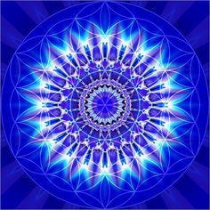 Poster-Leinwandbild-Mandala-Spiritualitaet-mit-Blume-des-Lebens-C-Baessler