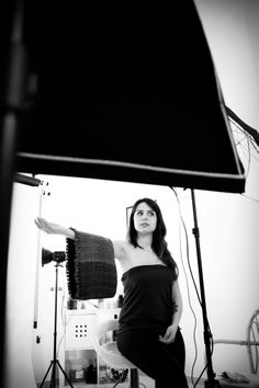 Backstage Nuova Collezione Scaldacolli Rovida Design. Foto: Studio Arienti. Modella: Chiara De Mastro  #ecofashion #artigianato #designandcraft #rovidadesign