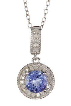 Tanzanite & White Diamond Pendant Necklace by Savvy Cie on @HauteLook