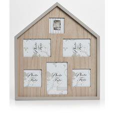 White Wooden House Photo Frame