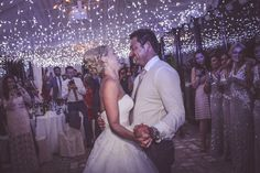 Inside our marquee...the magic moment of the first dance!