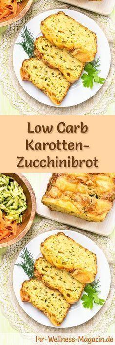 Rezept für Low Carb Karotten-Zucchinibrot: Kohlenhydratarm, ohne Getreidemehl, gesund und gut verträglich ... #lowcarb #brot #backen