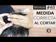 Aprende a cortar el pelo en la parte Superior ✂ Paso #4B | Corte de Pelo a Tijeras ★ Técnicas - YouTube