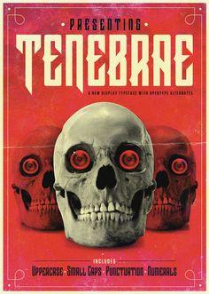 Tenebrae - Display Typeface by Carl Rylatt, via Behance