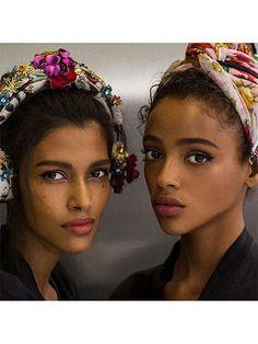 Prettiest Instagrams of the Week: Aya Jones and Pooja Mor at Dolce & Gabbana spring 2016   allure.com