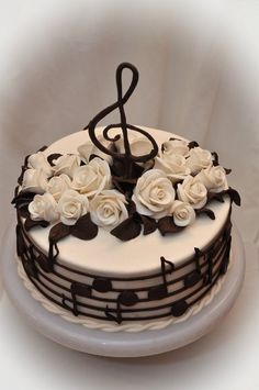 Cake Decorating - How To Apply Edible Cake Art Music Themed Cakes, Music Cakes, Bolo Musical, Piano Cakes, Happy Birthday Cakes, Cake Birthday, Birthday Cake Designs, Happy Birthday Cake Pictures, Birthday Images
