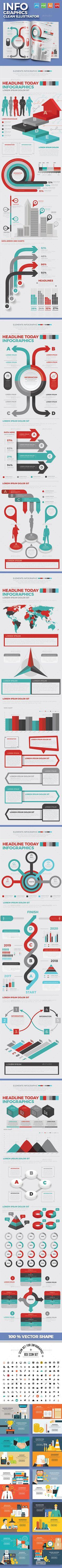 Infographics Templates Vector EPS, AI Illustrator