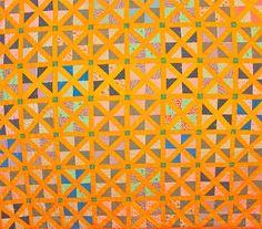 vintage quilt - Lattice Triangles pattern