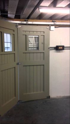 we were given the task of automating this large wooden side sliding garage door with