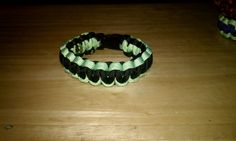 Black and Green Paracord Bracelet by KSKraftyCreations on Etsy, $9.95