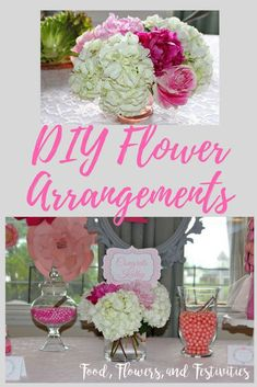 DIY flower arrangeme