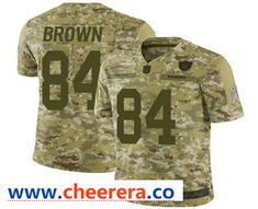 107acda1e Men s Oakland Raiders  84 Antonio Brown Camo Salute to Service Stitched NFL  Nike Limited Jersey