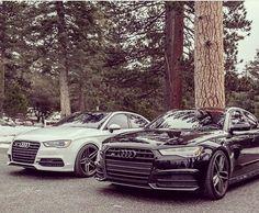A little different black & white -- #Audi #S6 #S3#allblack #blackoptics pic @arrivalanche ---- oooo #audidriven - what else ---- #AudiS6 #AudiS3 #S3sedan #quattro #4rings #AudiSport #drivenbyvorsprung #biturbo #v8 #blackS6 #blackAudi #Audicolor #blacklist #audirings #black #blackcar